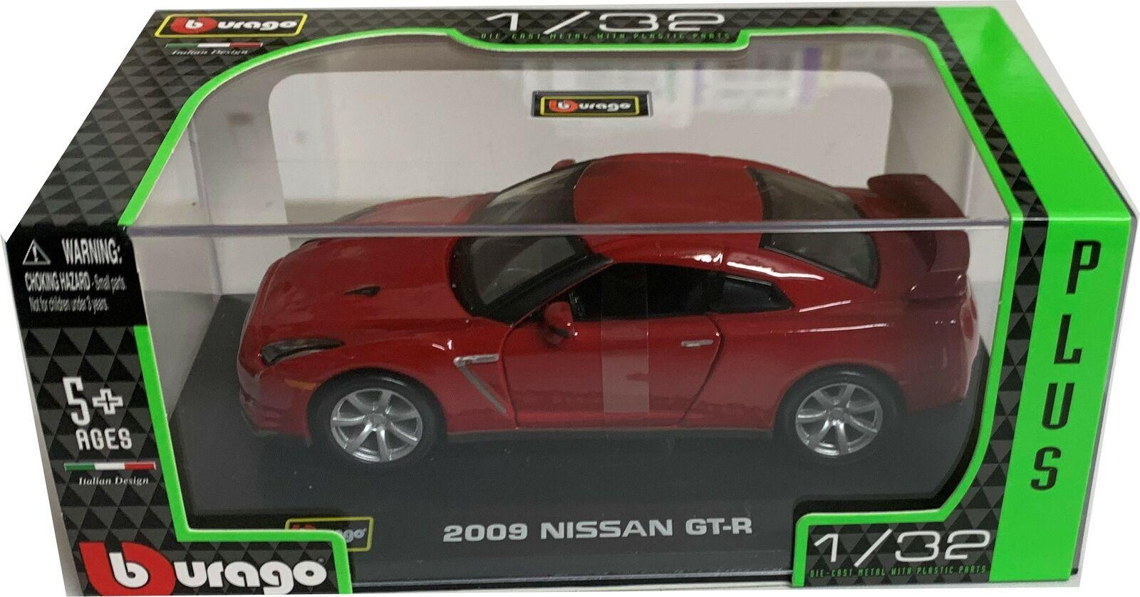 Nissan GT-R 2009 in Red 1:32 scale model from Bburago