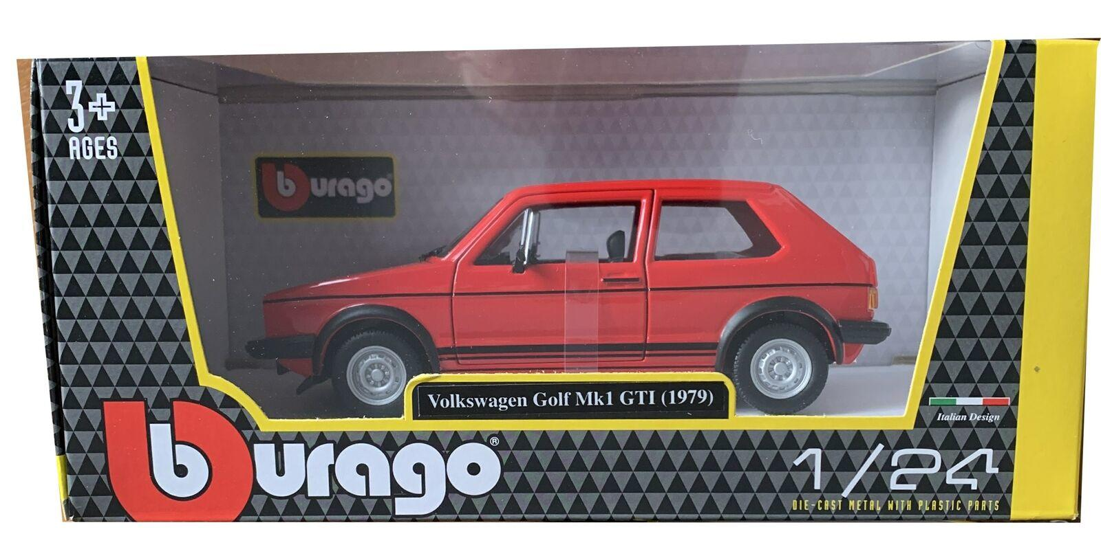 VW Golf GTi mk1 1979 in red 1:24 scale model from Bburago