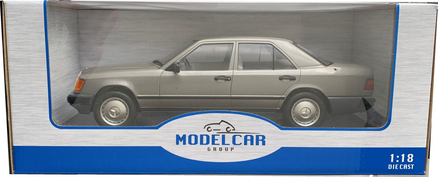 Mercedes Benz 300D (W124) 1984 in metallic dark grey 1:18 scale model from Motor Car Group
