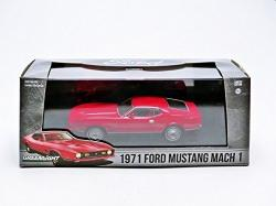 Ford Mustang Mach 1 1971 in red 1:43 scale model from Greenlight
