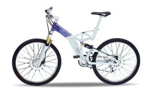 Audi Design Cross Bicycle in silver 1:10 scale model from Welly