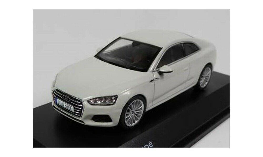 Audi A5 Coupe in glacier white 1:43 scale model made by Spark, Audi Collection