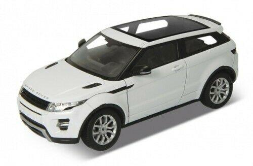 Range Rover Evoque in white 1:24 scale diecast Range Rover model from Welly