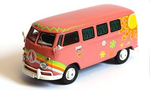 VW T1 Bus, vw flower power, split screen bus, vw toy bus, scale model bus, classic vw samba, samba van