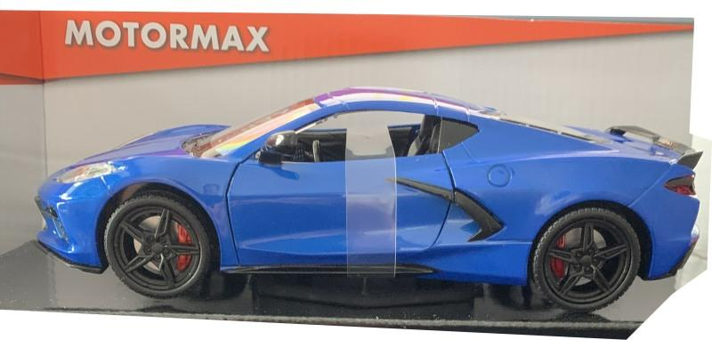 Chevrolet Corvette C8 2020 in blue 1:24 scale model from Motormax