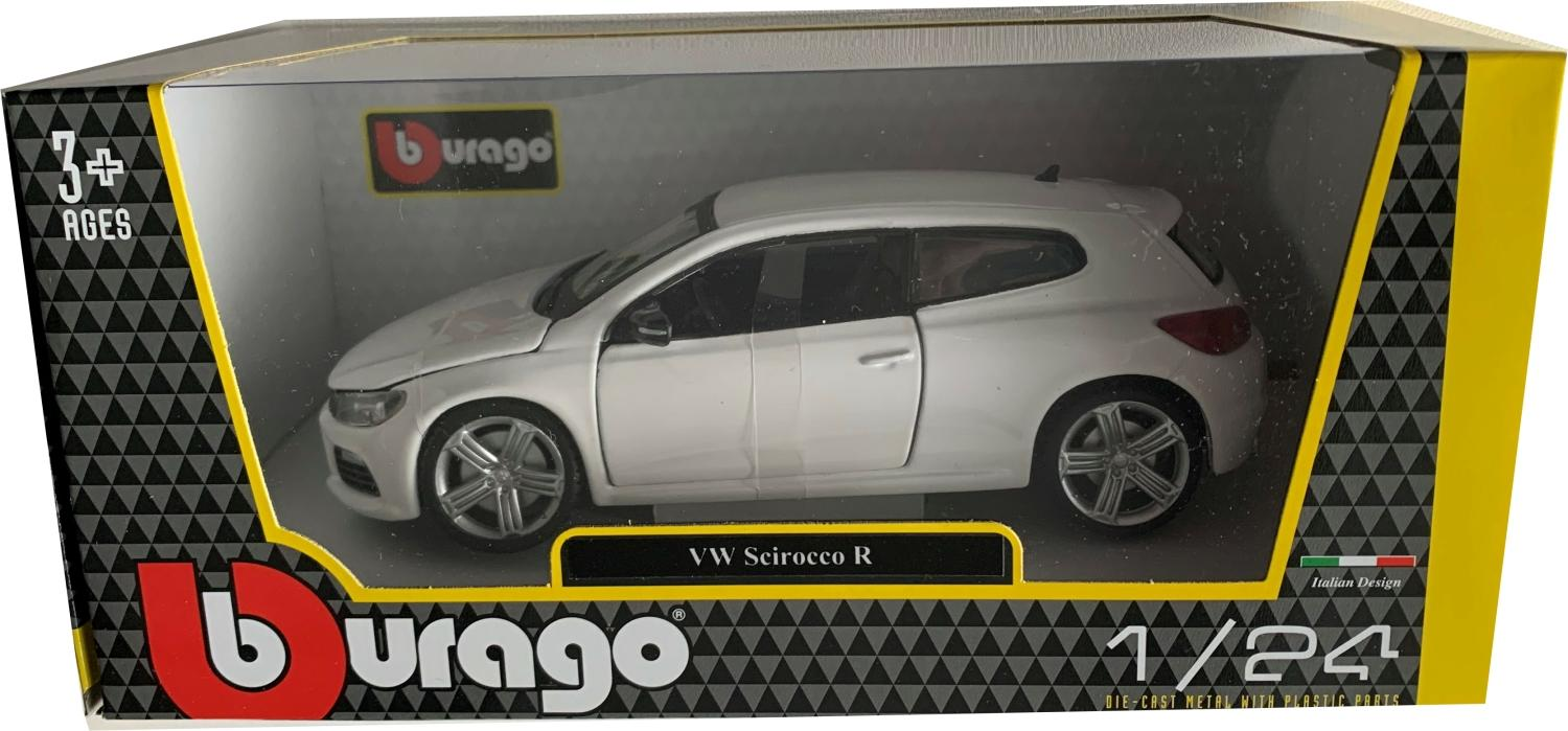 VW Scirocco R in white 1:24 scale model from Bburago