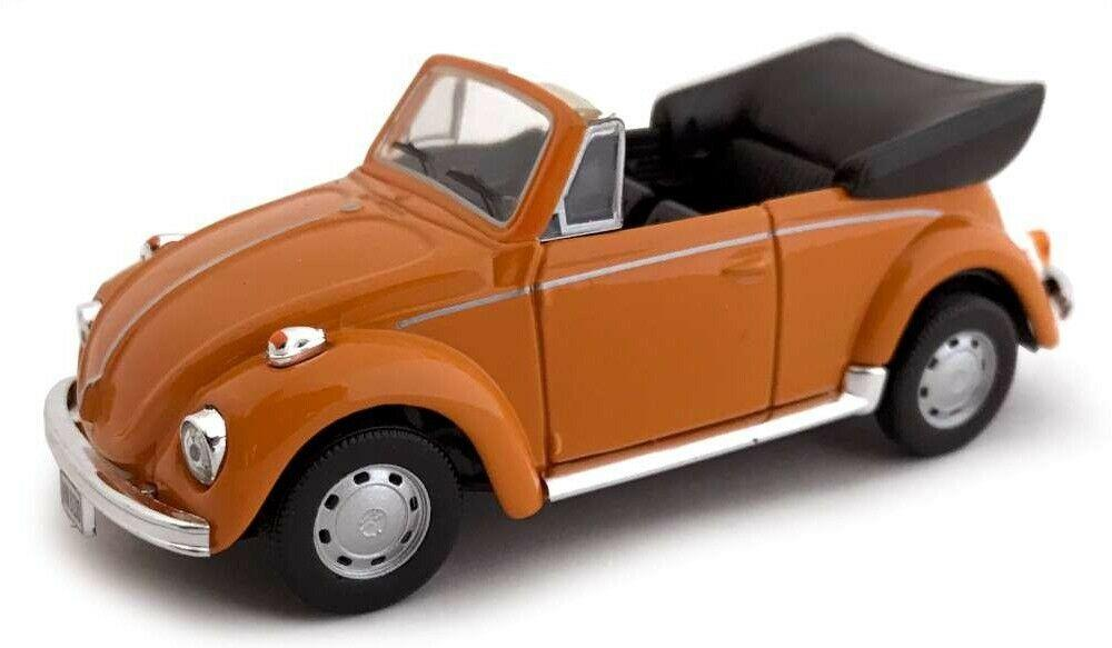 VW Beetle Cabriolet in orange 1:43 scale from Cararama