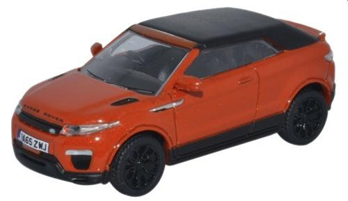 Evoque Convertible in phoenix orange 1:76 scale from oxford diecast