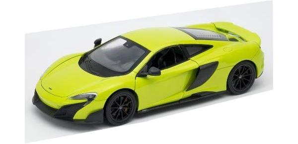 McLaren 676LT in green, 1:24-27 scale model from Welly