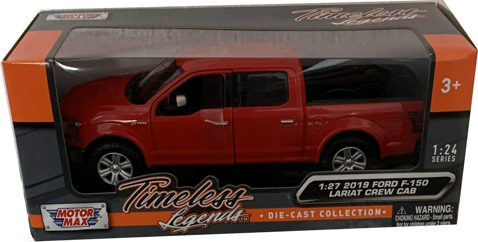 Ford F-150 Lariat Crew Cab 2019 in red 1:27 scale model from Motormax