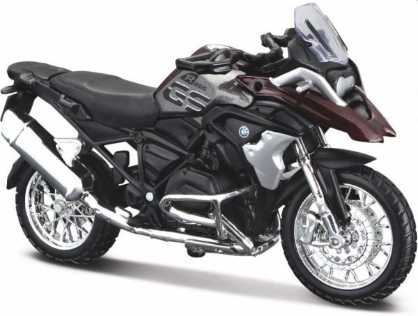 BMW R 1200 GS in grey / dark red  1:18 scale model from Maisto