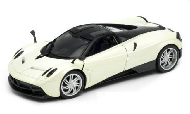 Pagani Huayra, pearl white, 1:24 scale model, Wellydiecast
