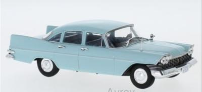 Plymouth Savoy Sedan 1959 in light blue 1:43 scale model from Whitebox