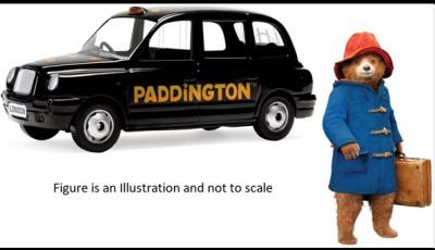 Paddington London Taxi with Paddington Bear figurine 1:36 scale model from Corgi