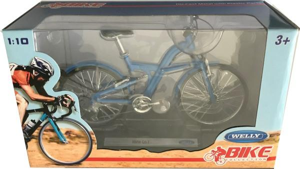BMW Q5.T Bicycle in blue 1:10 scale model from Welly