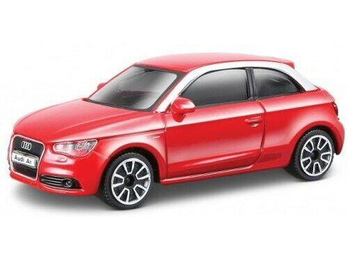 Audi A1 2010 in red 1:43 scale model from Bburago, streetfire