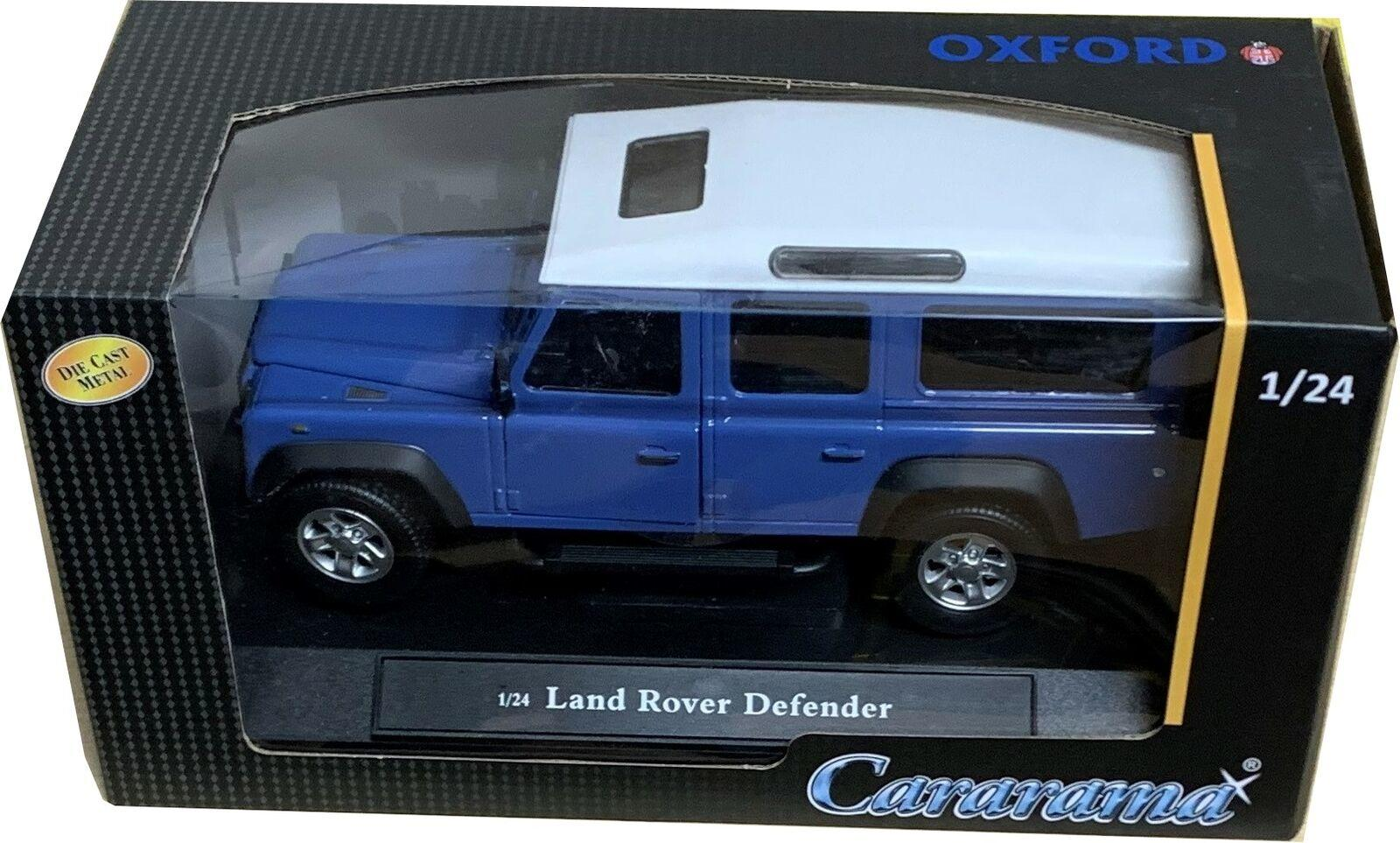 Land Rover Defender 110 in grey blue / white 1:24 scale model from Cararama
