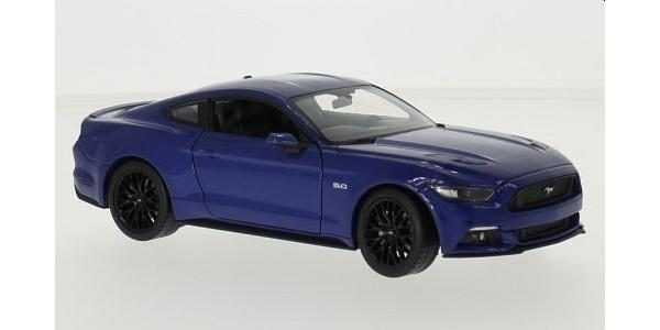 Ford Mustang GT 2015 in blue 1:24-27 scale model from Welly