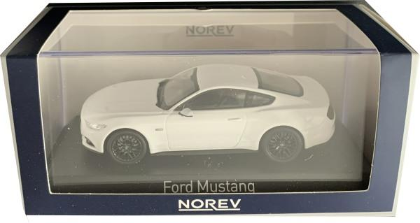 Ford Mustang in white 2015, 1:43 scale model from Norev, NOV270556
