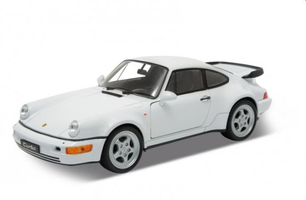orsche 911 (964) Turbo in white 1:24 scale model from Welly