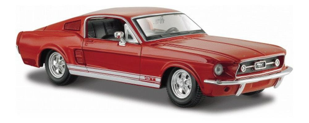 Ford Mustang GT 1967 in red 1:24 scale diecat model car  from Maisto