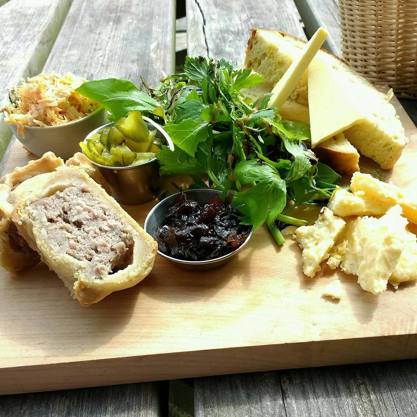 Cheese board with chutney