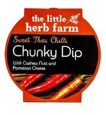 Tub of Sweet Chilli Dip from The Little Herb farm