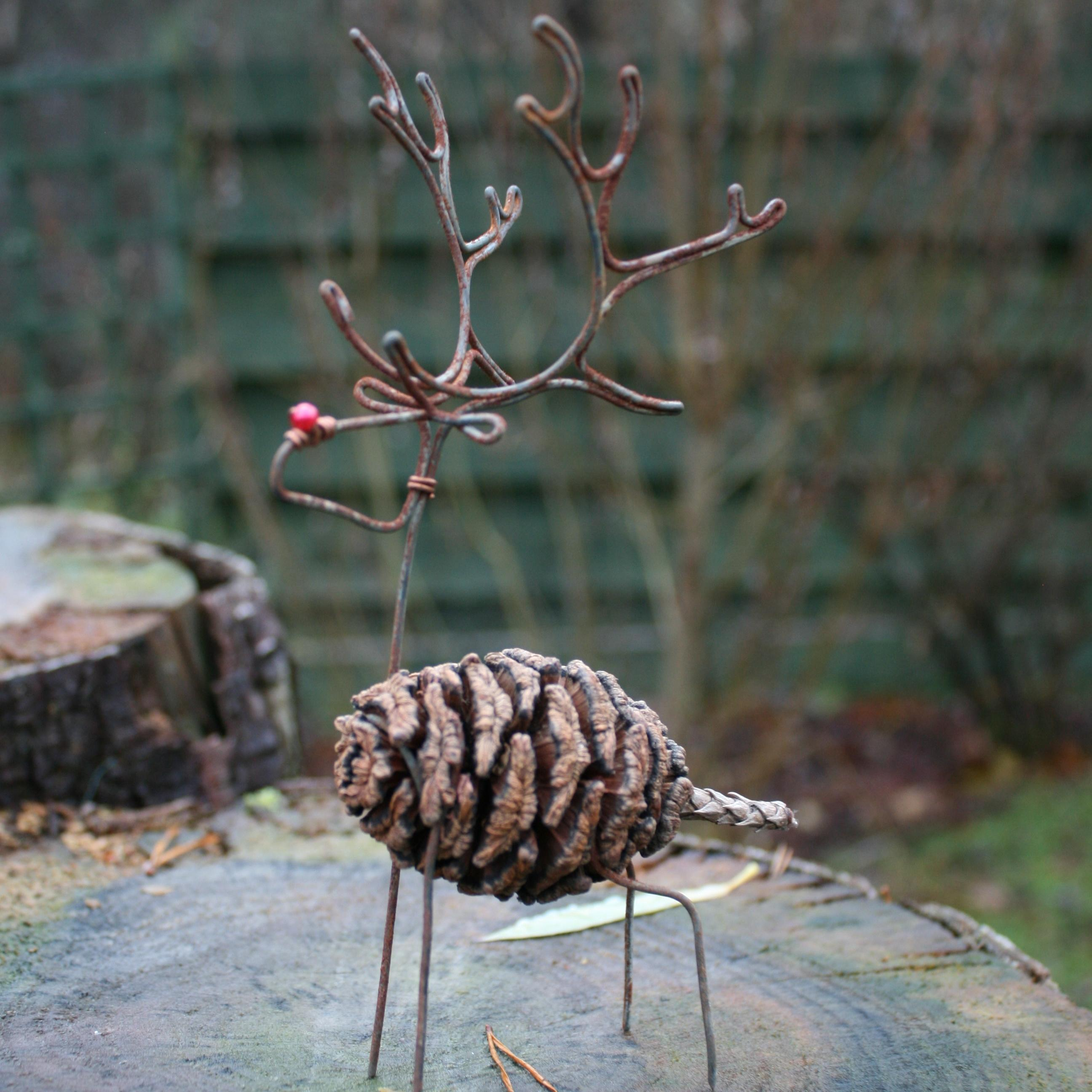 Crafted reindeer decoration