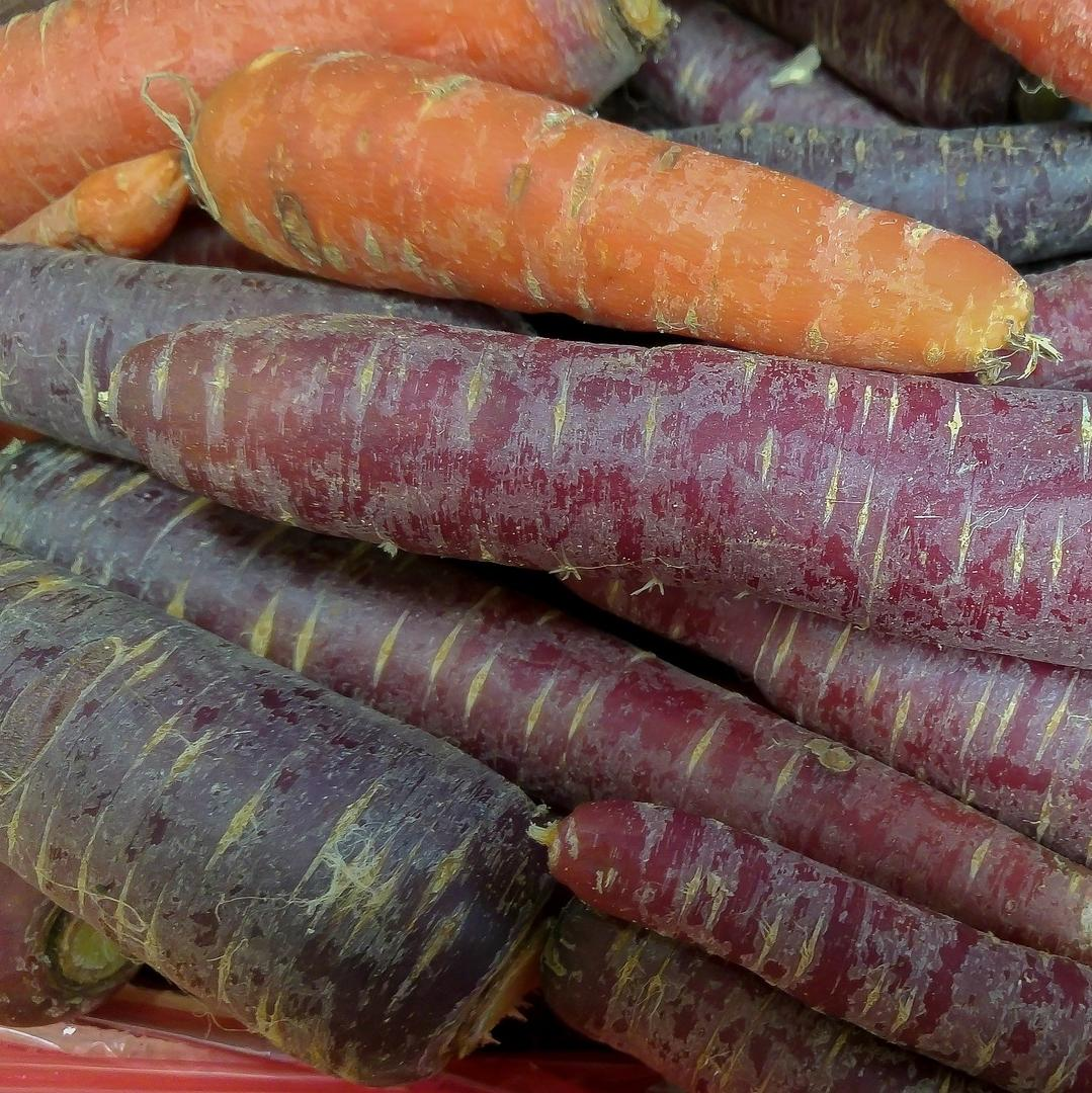 1Kg colourful, heritage carrots