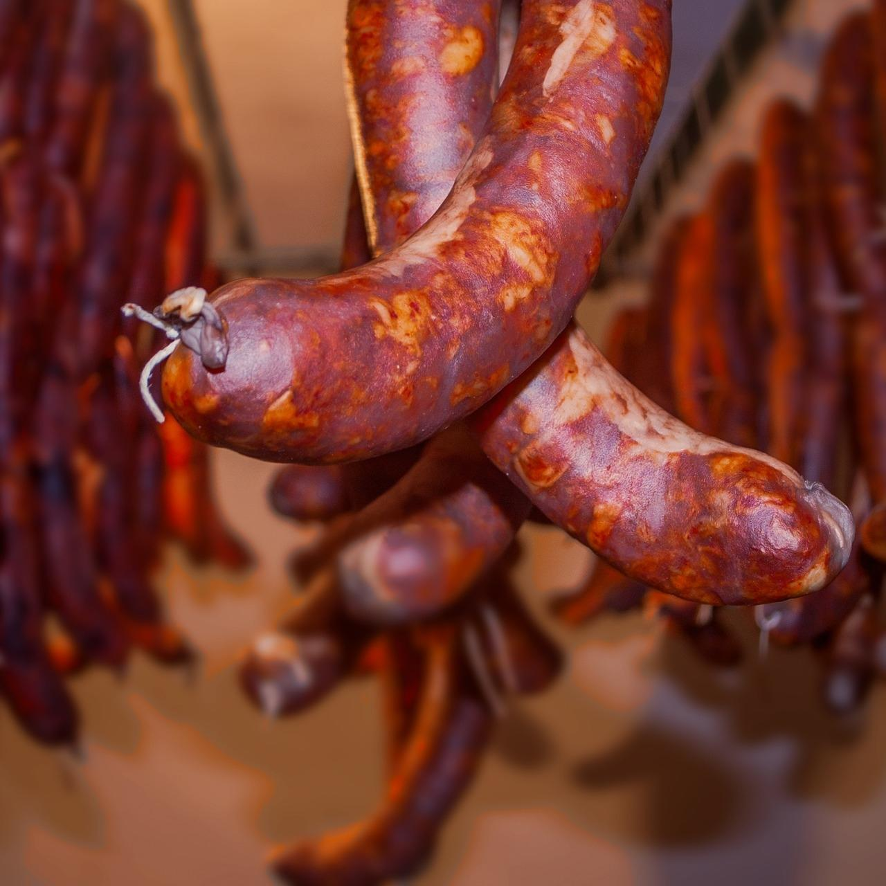 Chorizo hanging to cure
