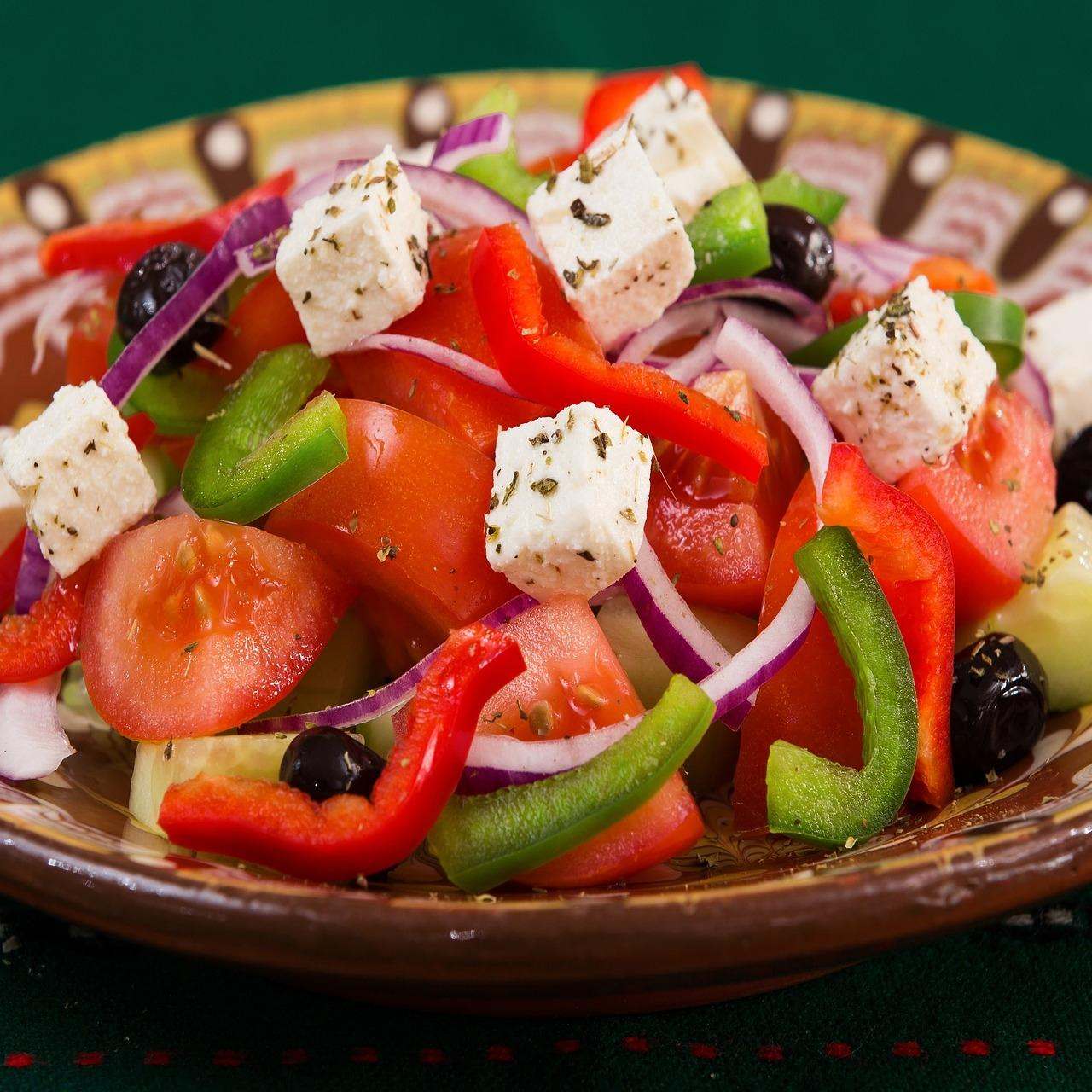 A Greek salad
