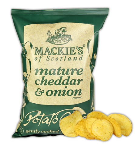 a packet of cheese and onion crisps