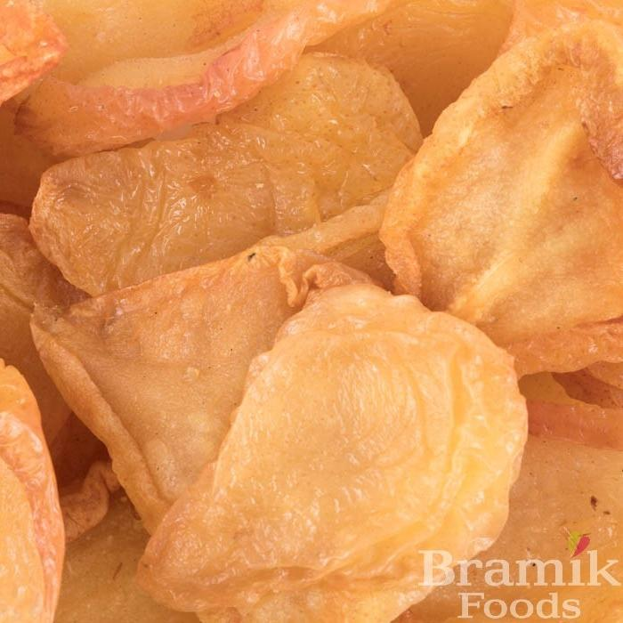 Close up of dried mango slices