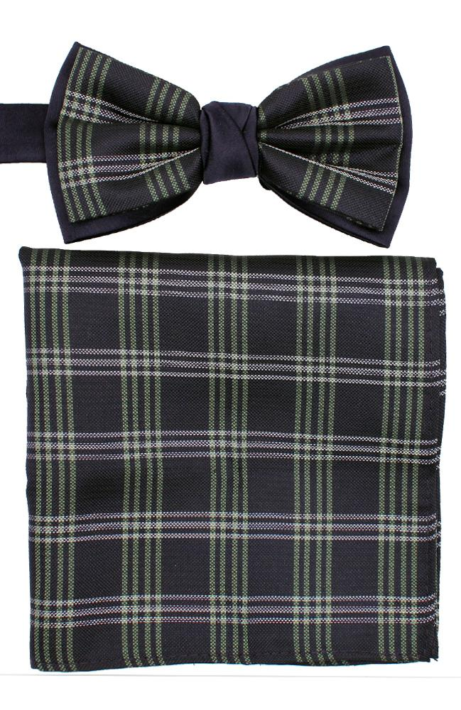 Bow Tie And Hank Set - Check
