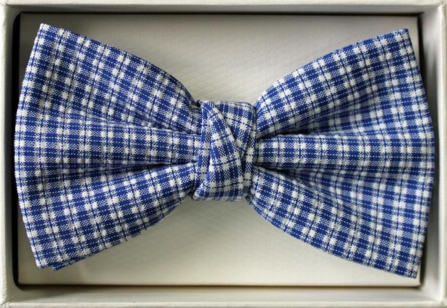 Gingham Ready Tied Bow Tie