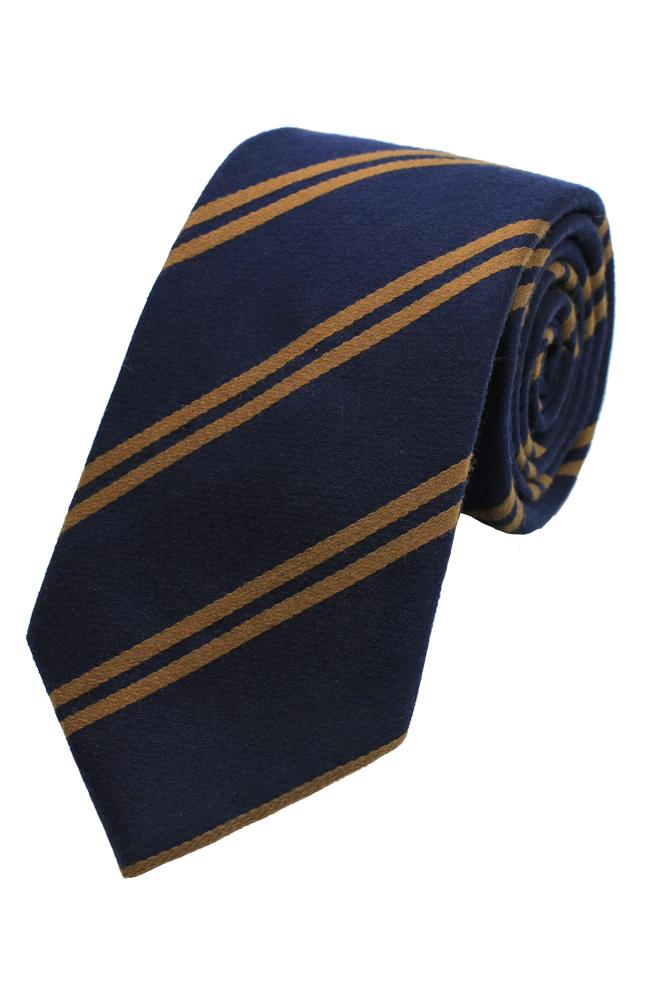 Luxury Silk-Wool Stripe Tie