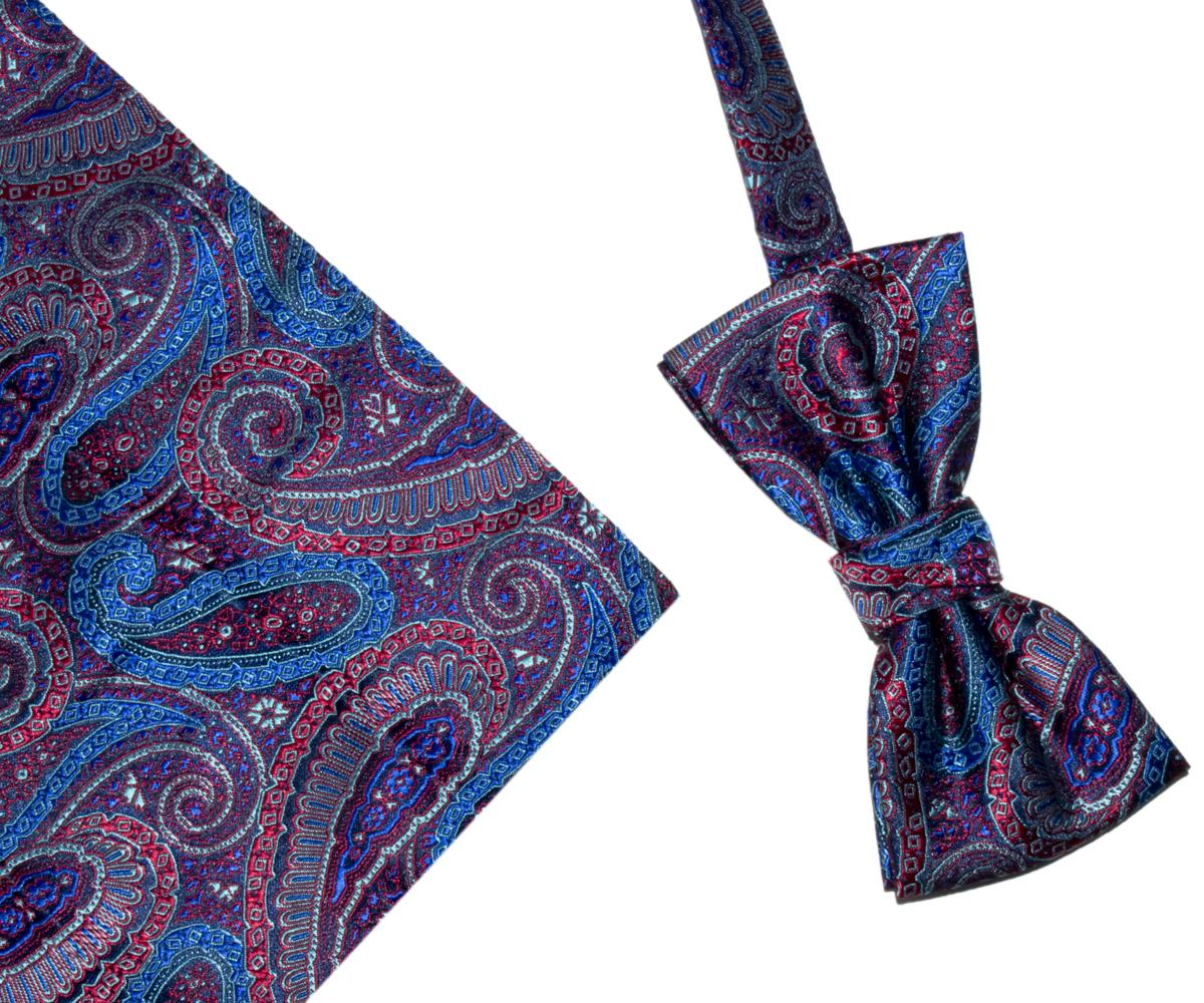 Bow Tie And Hank Set - Paisley