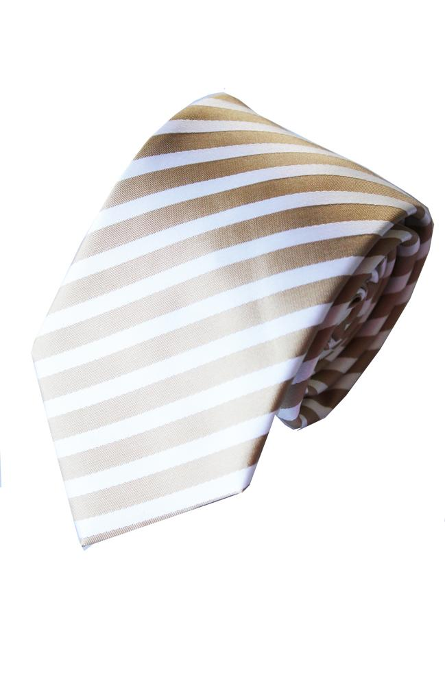Striped Poly Tie