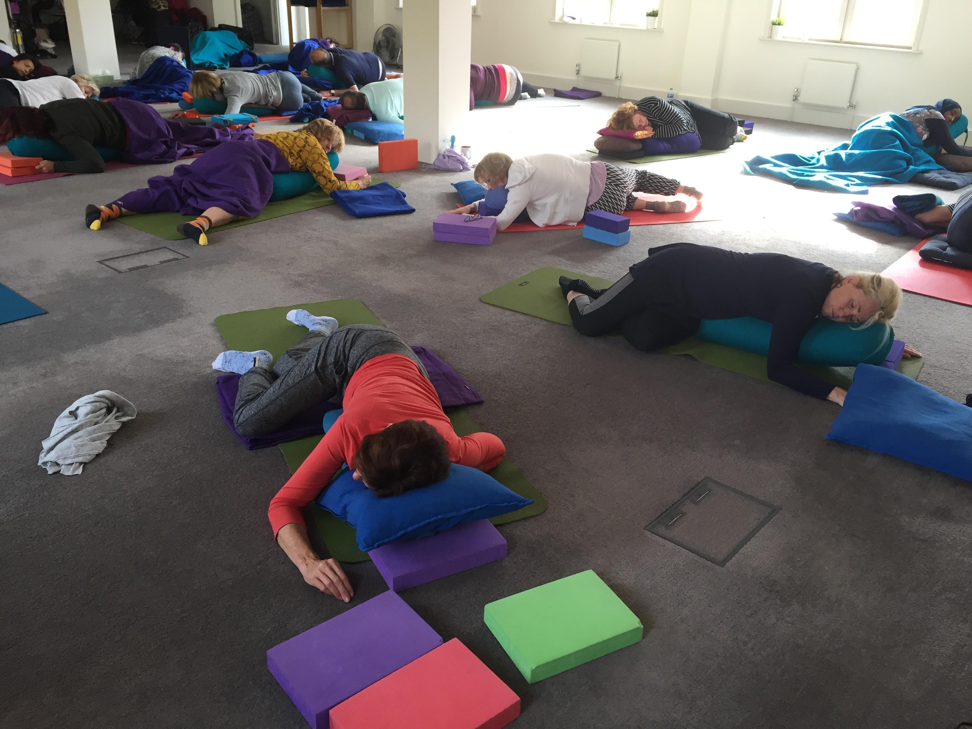 restorative, yoga, props, stillness