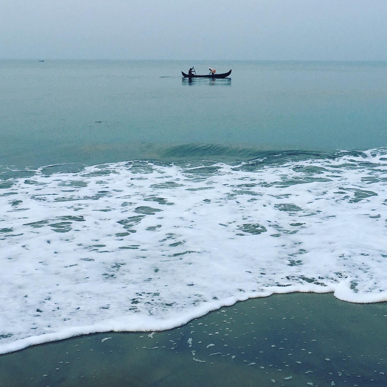 arabian, sea, kerala, cherai, beach, morning