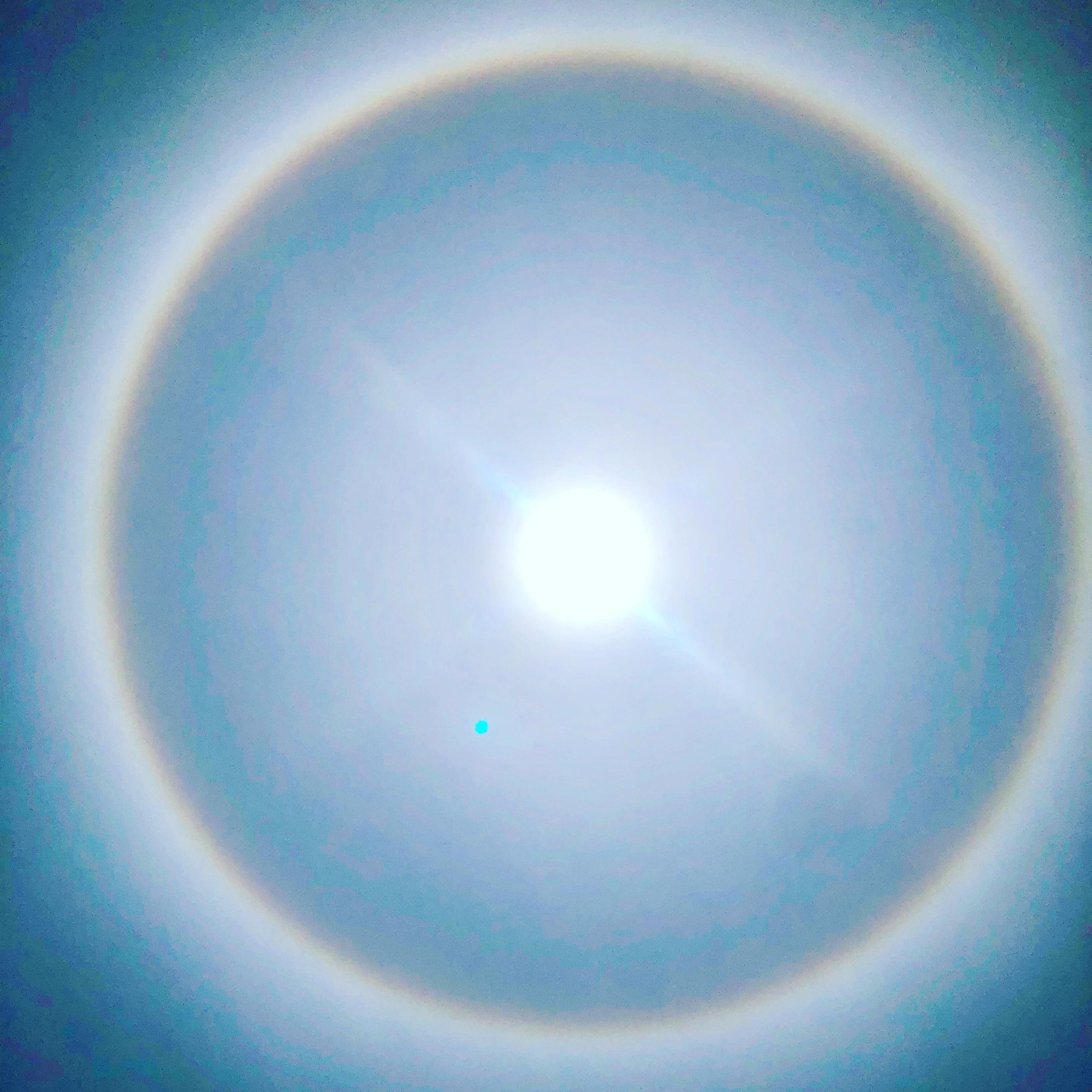 Rainbow sky India