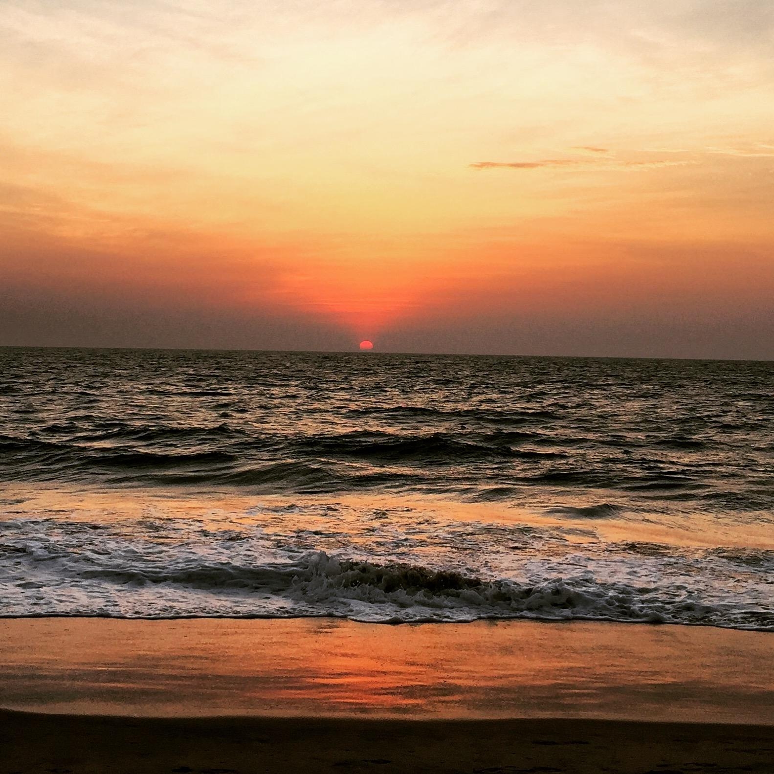 Yoga United holiday india retrat cherai beach Sunset
