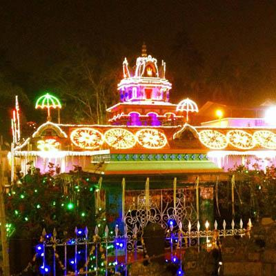 Yoga United Holiday retreat in india temple festival lights