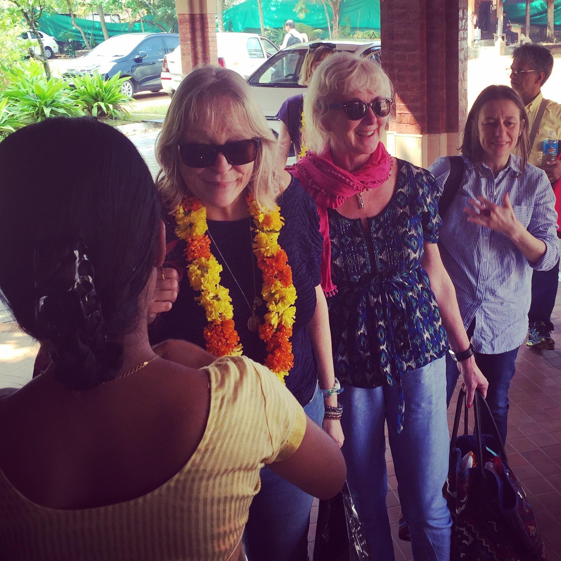 arrival, cherai, beach, resort, welcome, drink, garland, flowers, warm