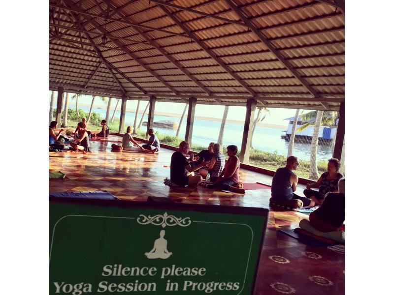 adele, robertson, holiday, retreat, hatha, yoga, meditiation, buddhist, cherai, beach